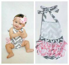 Baby Girls Chevron Print Bubble Romper // by AdalynsBoutique, $22.99  http://www.etsy.com/shop/adalynsboutique