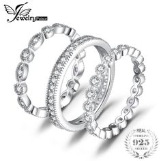 Solid Silver Rope Design Rings Hexagon Black Cubic Zircon Hollow Rings