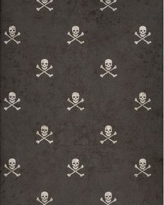 Image gallery for : crossbones skull wallpaper Skull Wallpaper, Pattern Wallpaper, Hacker Wallpaper, Room Wall Painting, Haunted Dollhouse, Kids Wall Decor, Halloween Books, Halloween Patterns, Black Skulls
