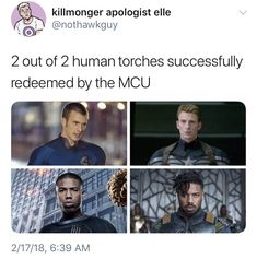 Yeah but Michael B Jordan's Human Torch didn't even make it into theaters