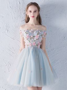Flower appliques beading cute homecoming dresses ,blue homecoming dresses on Storenvy outfit Flower appliques beading cute homecoming dresses ,blue homecoming dresses Cute Homecoming Dresses, Hoco Dresses, Flower Dresses, Pretty Dresses, Sexy Dresses, Beautiful Dresses, Fashion Dresses, Wedding Dresses, Prom Dress