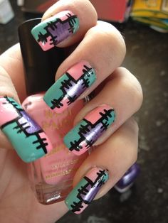 Patch work nails