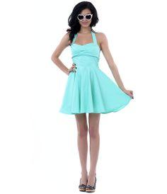 Mint flare dress