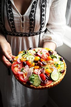 Feta and Fresh Tomato Tart