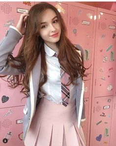 Spring outfits Ideas for school, teen girls outfit for spring and school , Check them out School Uniform Fashion, School Girl Outfit, Girl Outfits, Kawaii Fashion, Girl Fashion, Cute Girl Dresses, Stylish Girl Images, Attractive Girls, Cute Girl Photo