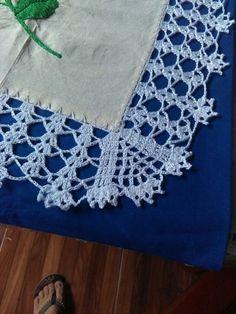 Lapghans Crochet - Basic Embroidery Stitches Embroidery stitch for beginners Crochet Towel, Crochet Lace Edging, Crochet Headband Pattern, Crochet Borders, Filet Crochet, Crochet Doilies, Easy Crochet, Crochet Flowers, Crochet Patterns