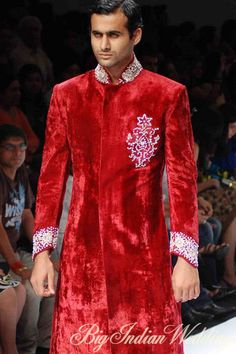 red velvet #sherwani
