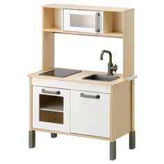 Cute and simple kitchen at ikea DUKTIG Mini-kitchen IKEA Encourages role play; children develop social skills by imitating grown-up. Play Kitchens, Ikea Play Kitchen, Mini Kitchen, Toy Kitchen, Kitchen Modern, Wooden Kitchen, Toddler Kitchen, Ikea Kitchens, Pretend Kitchen