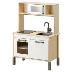 DUKTIG Mini bucătărie - furnir de mesteacan/alb - IKEA