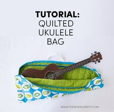 Tutorial: Quilted Ukulele Bag on TheSewingParty.com