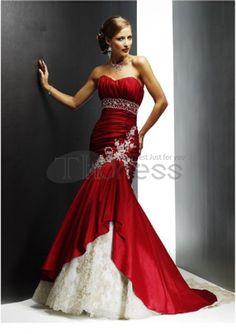Hot Bride Custom-made Red Wedding Dress Bridal Gown Bridal Dress Wedding Gown Colored Wedding Dresses, Bridal Dresses, Dress Wedding, Lace Wedding, Bridesmaid Dresses, Elegant Wedding, Bridesmaids, Purple Wedding, Perfect Wedding