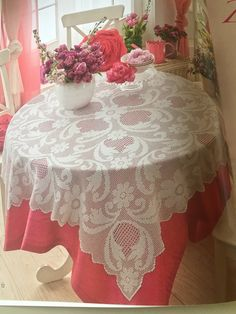 10 Filet Crochet, Projects To Try, Tablecloths, Lace, Handmade, Tutorials, Fashion, Free Crochet, Picasa