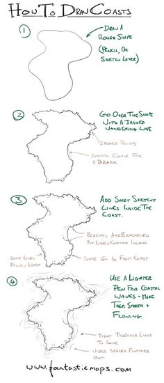 My tutorial on how to draw coastlines - FantasticMaps