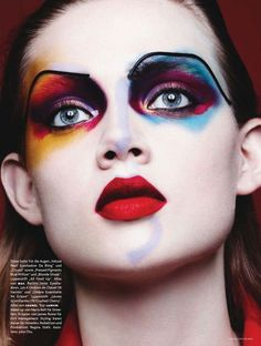 Color Codes. Holly Rose Emery by Ben Hassett for Vogue Germany in their January 2014 issue. Makeup by Maria Belt, hair by James Rowe. Fashion editor: Karen Kaiser.