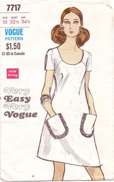 70s Very Easy Very Vogue Pattern 7717 Womens by CloesCloset, $8.00