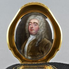 CHRISTIAN FRIEDRICH ZINCKE Agate snuff box with inset miniature of Robert Darcy, Earl of Holdernesse the interior with miniature of an unknown man, previously identified as the Duke of Schomberg. The Royal Collection, Antique Boxes, Agate, Mona Lisa, Decorative Boxes, Miniatures, Christian, Antiques, Artwork