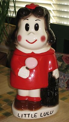 VERY RARE LITTLE LULU RED DRESS COOKIE JAR GALE GERDS LTD EDITION (: