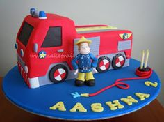 Inspiration Picture of Easy Fire Engine Birthday Cake . Easy Fire Engine Birthday Cake Cake Trails How To Make A Fire Truck Cake Tutorial Fireman Sam Birthday Cake, Fireman Sam Cake, 3rd Birthday Cakes, Birthday Parties, Fire Engine Cake, Fire Cake, Fire Fighter Cake, Cake Kit, Truck Cakes