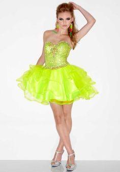 #L905 - Neon Lime at Peaches Boutique  Prom Dresses #2dayslook #PromPerfect #sunayildirim #sasssjane  www.2dayslook.com