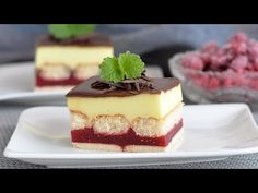 Rychle složte dort a užívejte si. Je to velmi chutné. - YouTube Cheesecake, Cooking Recipes, Youtube, Food, Quick Cake, Dessert Recipes, Sweets, Raspberries, Tasty