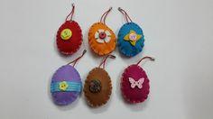 DIY Easter : DIY Felt Easter Egg Ornaments