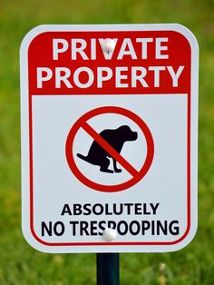 Pray tell, what's a pooch to do if he can't poop in in a posh place?