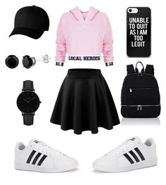 """I'm Too Legit"" by baeitskai on Polyvore featuring Local Heroes, adidas, Deux Lux, Flexfit and CLUSE"