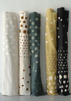 Nani Iro for Kokka - Woodblock Pocho Garland - Nani Iro - Japanese Prints - Fabric