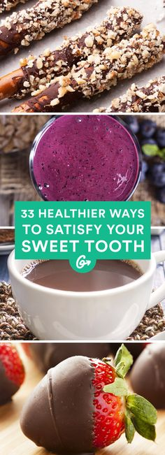 Never feel guilty about eating a little sweet stuff when choosing from this list! #healthier #desserts http://greatist.com/health/healthier-dessert-recipes