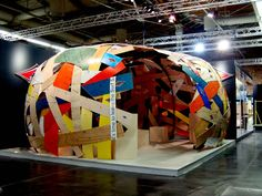 """Clever way to """"bend"""" the rule on not creating barriers in your booth! -- Bear Surfboards by Max Veronesi, via Behance"""