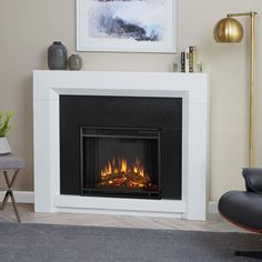 Andillac Free Standing Electric Fireplace