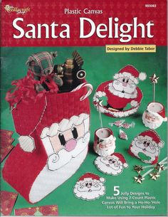 the needlecraft shop plastic canvas | Santa Delight Plastic Canvas Pattern Book…