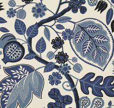 P Kaufmann fabric in Chloe design in Sapphire colourway