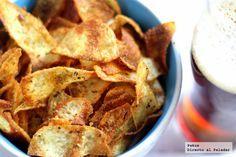 Virutas de patata crujientes y especiadas