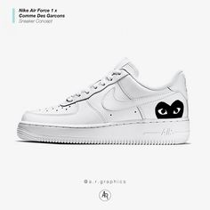 check out a2fd4 84435 Nike Air Force 1 x Commes Des Garcons Black Custom    giftryapp Custom Af1,