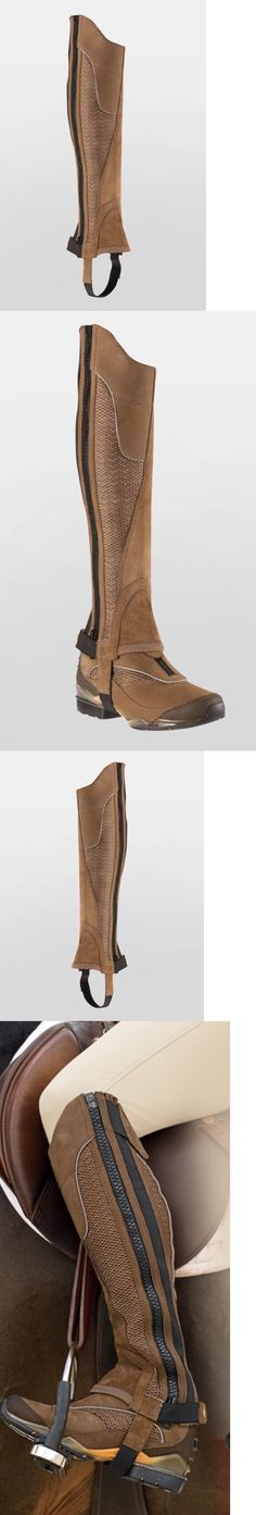 Gaiters Half Chaps 183383: ??New Ariat Volant Taupe Half Chaps Size M Extra Tall Style 10009525 Gorgeous?? BUY IT NOW ONLY: $84.0