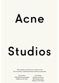 Acne Studios E-Mail ( no source found ) Layout Design, Ästhetisches Design, Graphic Design Layouts, Print Layout, Poster Layout, Email Design, Creative Typography, Typography Logo, Graphic Design Typography