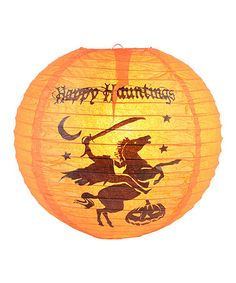 This Headless Horseman 'Happy Hauntings' Paper Lantern - Set of Six is perfect! #zulilyfinds