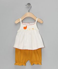 Take a look at this Rooster Swing Top & Bloomers - Infant by Victoria Kids on #zulily today!