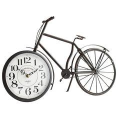 Antiqued Black Bicycle Clock | Pier 1 Imports