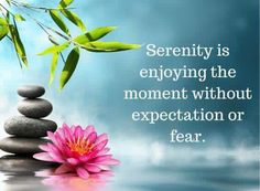 Serenity is one of the goals in life and 12 step recovery. Addiction and codependency destroy serenity but if we keep coming back, so does our sanity!