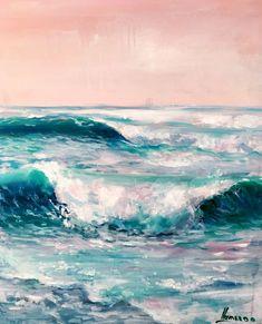 Coastal painting, ocean art. Color is everything! #OilPaintingOcean