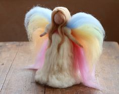 Needle Felted Angel Guardian Angel Christmas by CloudBerryCrafts