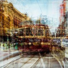 "Photographer Laurent Dequick from his series ""Vibrations"" Multiple Exposure, Double Exposure, City Photography, Amazing Photography, Exposition Multiple, Melbourne, Fair Grounds, Fine Art, Pictures"