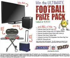 You should enter Fall into Football with Mars & GFS Marketplace. There are great prizes and I think one of us could win!