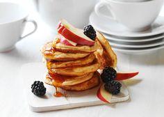Amerikanske pandekager med æble og nougat - se lækker opskrift - Odense Marcipan