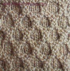 Reticular  knitting stitches