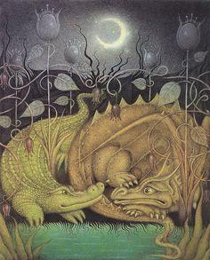 'I Am Not a Crocodile' by British artist and illustrator Wayne Anderson (b.1946). via visualize us