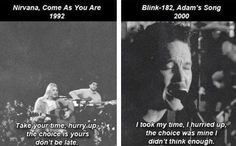 Nirvana and Blink 182