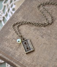 little mixtape necklace by bellehibou on Etsy, $17.00